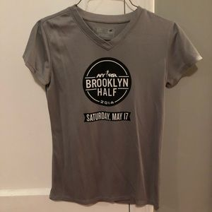 Gray Women's New Balance Athletic Running Shirt